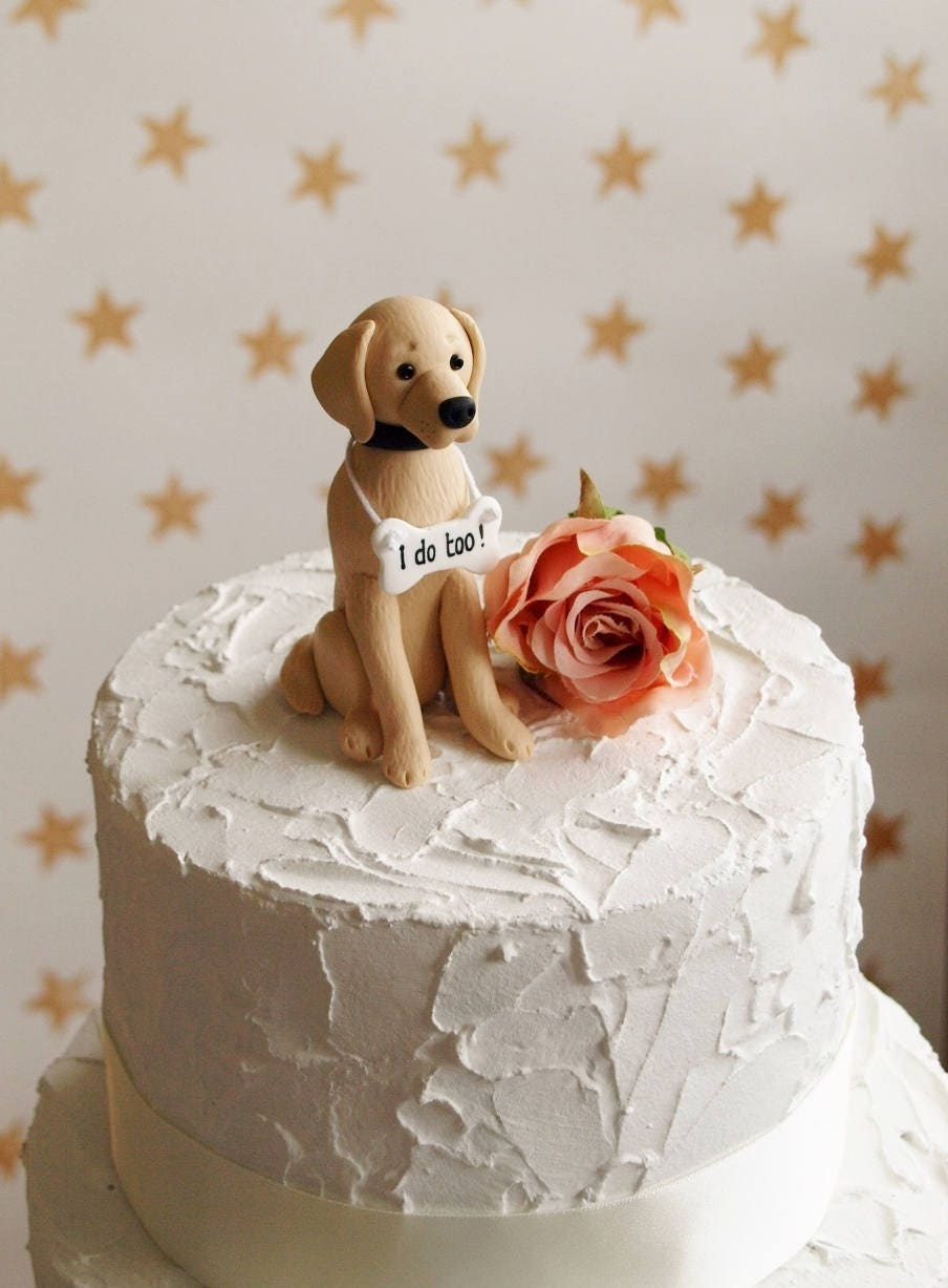 wedding cake topper two dogs golden retriever cake topper wedding cake topper 26645