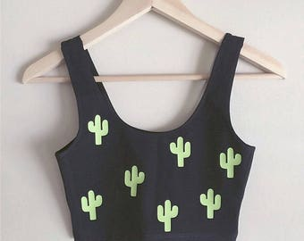 Réservoir de culture Spandex cactus - Made in USA par Effing tellement mignon pour les amateurs de Cactus