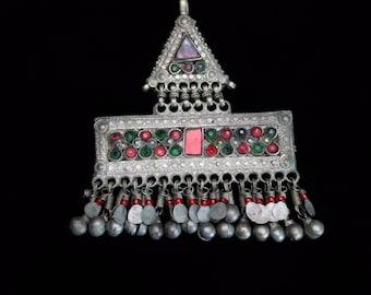 Vintage Kuchi Tribal Hair Adornment Tikka Barrette Headdress Hair Ethnic Jewelry