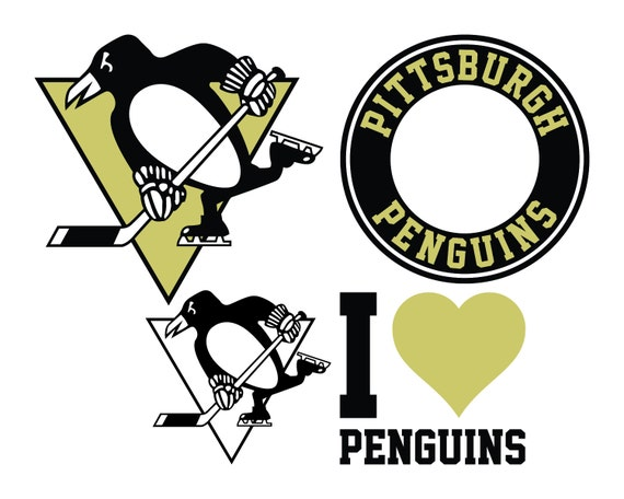 Pittsburgh Penguins Cut Files SVG Cutting Instant Download From Svg2u On