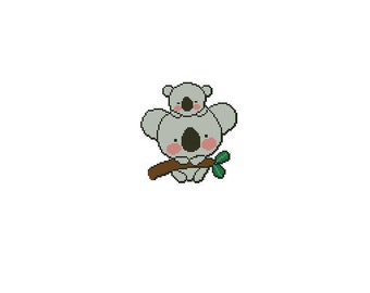 Koalas Cross Stitch Chart Pattern PDF