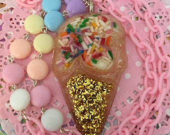 Ice Cream Cone Necklace 2