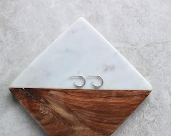 Petite Silver Hoops, Hoop Earrings