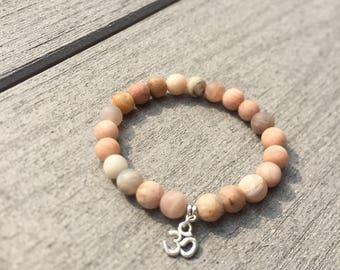 Om - Sunstone - Stretch Bracelet - Happiness & Good Fortune