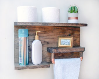 Bathroom Storage, Wood Shelf