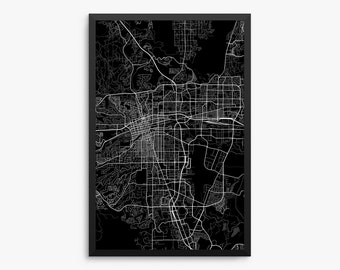 Reno City Street Map, Reno Nevada USA, Modern Art Print, Reno Office Decor Idea, Reno Home Decor, Reno Map, Reno Print, Reno Art, Reno Decor