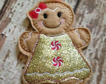 Ginger bread girl tree decoration, Gingerbread Man, Tree Ornament, Christmas