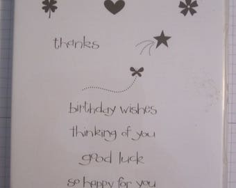 So Happy For You Stampin' Up! Clear mount stamp  Set
