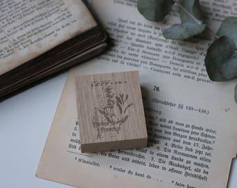 Wood Stamp Herbes 7! unassembled