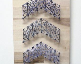 Three Arrows String Art - Chevron String Art, Arrow String Art, Rustic Arrows,  Arrow String Art Sign