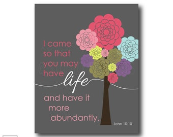 I came so that you may have life | John 10:10 - Christian Art Print