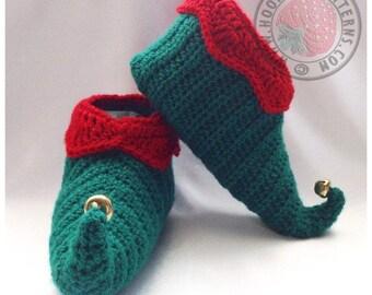 Curly Toes Elf Slipper Shoes - Crochet PDF Pattern