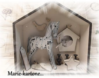 "Curiosity record ""The white horse"" House wooden memory..."