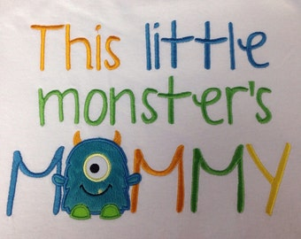 Little Monster's Birthday Mommy or Daddy Shirt