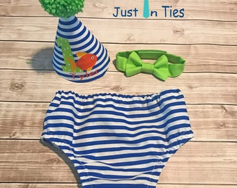 Fish Theme Baby Boy Cake Smash Set First Birthday Outfit