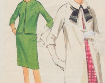 Vintage sewing pattern -Butterick ladies quick and easy dress, coat and jacket size 12-14