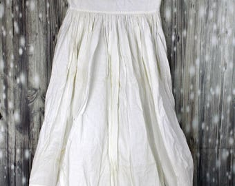 Antique Victorian Womens or Girls Dress Undergarments Slip Skirt Cotton Lace
