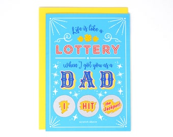 Father's Day Lottery Scratch-Off Card