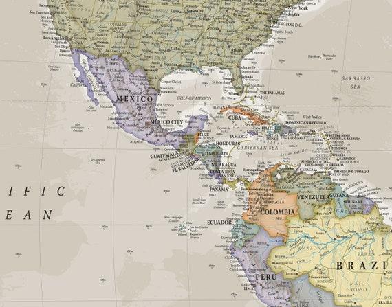 Huge Classic World Map Push Pin Map Map Home Decor Living - Huge classic world map