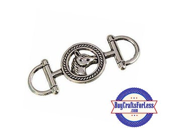 COWBOY HORSE Connector Charm, 2 pcs +99cent SHiPPING & Discounts