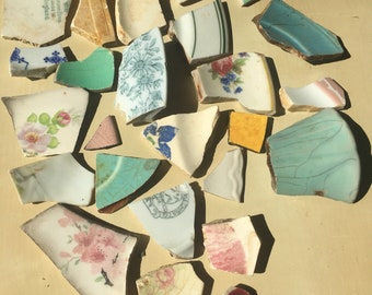 Bundle of sea pottery