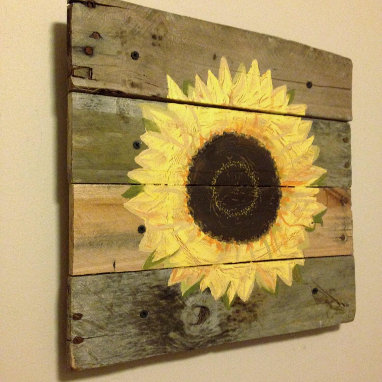 Sun FlowerSunflower21x21Pallet Artrustic wall