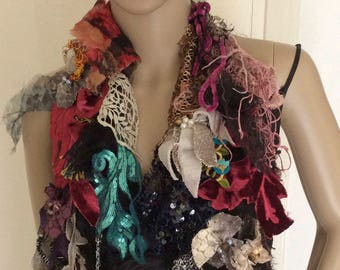 art to wear, Hippy, Beautifully, Boho, Gypsy Marie Antoinette, collage of textiles sophisticated