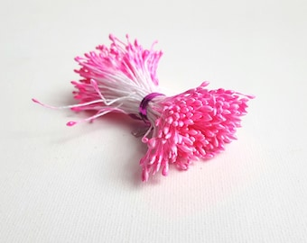 Stamens of 3mm neon pink flowers. Gloss finish 240 double pistils