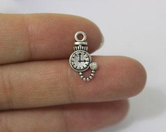 wholesale charm~~25pcs Clock Charms, Antique silver Clock charm Pendants, Watch charms, DIY Supplies 10*16mm