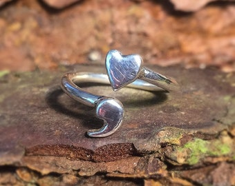 Heart and Semicolon Ring