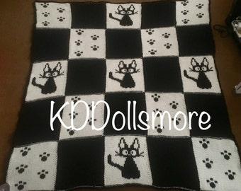 PATTERN: Knitted Jiji Patchwork Blanket