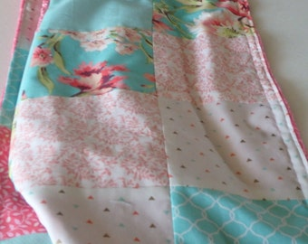 Amy Butler Bliss Patchwork Baby Minky Blanket or Quilt