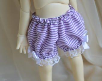 YOSD BJD 1/6 doll clothes - purple little girl cute lace pantaloon shorts bloomers - little princess kawaii girly clothing lolita underwear