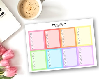PLANNER CHECKLIST Pastel Rainbow Blogger Vlogger Planner Stickers for the Erin Condren Planner Planner Sticker Functional