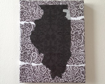 Cook County, IL -- Map Collage -- Chicago