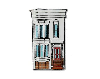 Full House Enamel Pin - Hard Enamel - Flair - Fuller House - San Francisco California - Painted Ladies - Gift - Bay Area