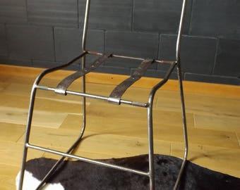 Handmade in France vintage metal Chair / Chair vintage industrial decor