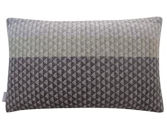 Grey Green Triangle Weave Cushion