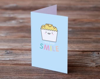 I Love Your Smile A6 Cute Cake Greeting Card