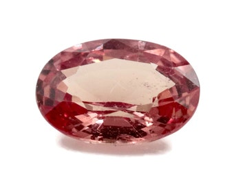 Natural padparadscha sapphire Royal Wedding Stone  Padparadscha Color Sapphire OVAL 8x6mm 1.3ct  Peach Sapphire September Birthstone