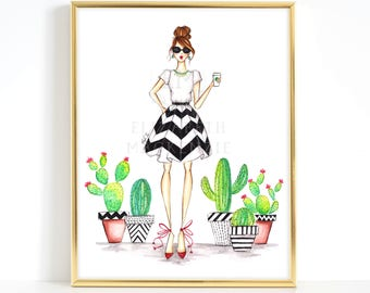 fashion illustration etsy