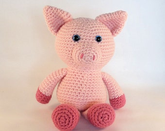 Crochet Toy Pig, Amigurumi Pig, Pink Plush Pig, Cute Toy Pig, Hand Made Toy, Made in Australia