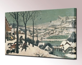 Brueghel Hunters in the Snow Canvas Wall Art Wall Decor Canvas Print Print Renaissance Fine Art Ready To Hang Home Decor