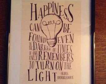Harry Potter picture, Harry Potter inspirational quote, art print, quote.