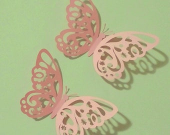 Paper Wall 3D Butterfly  large  6inch 4pk - 3D Wall Art - Paper Butterfly