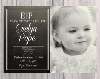 Graduation Party Invite, Custom Graduation Invite