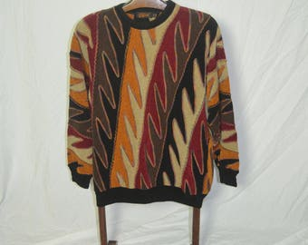 Vintage Mens Bogart Chenille Pullover Sweater - Size Large