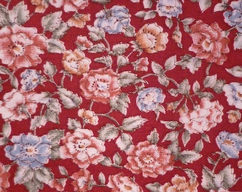 Old Fashioned Roses - Vintage Fabric - Cotton - Marcus Brothers
