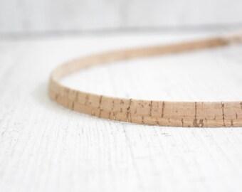 Headband Hairband cork - earth with gold