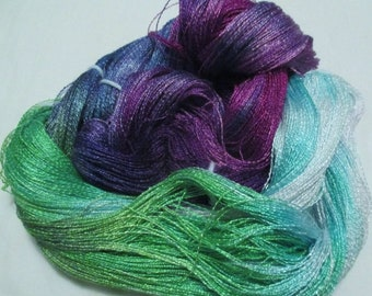 Hand dyed Tencel Yarn - 900 yds. Lace Wt. Tencel Yarn  SACHET